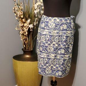 Charter Club Linen wrap skirt size 14
